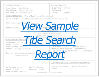 sample title search